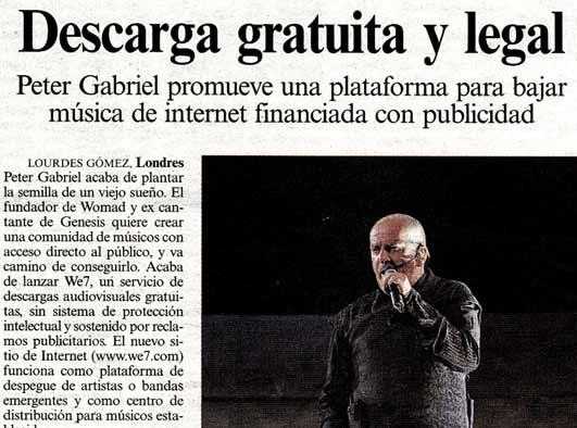 Peter Gabriel, uno de los nuestros