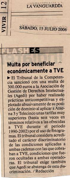 multa de 300.000€ a Agedi