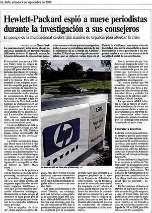 Hewlett-Packard espió a periodistas